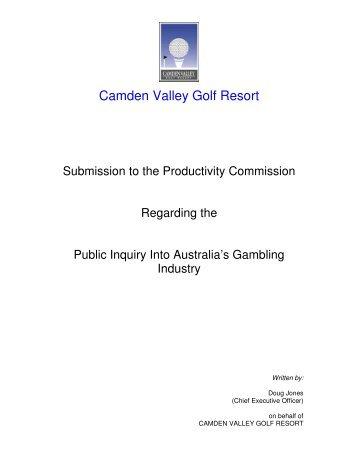 Camden Valley Golf Resort (PDF - 184 Kb) - Productivity Commission