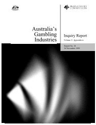Australia's Gambling Industries - Productivity Commission