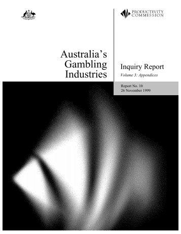 Australia's Gambling Industries - Productivity Commission