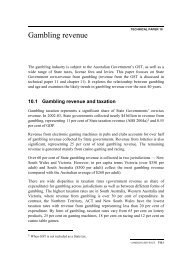 10.1 Gambling revenue and taxation - Productivity Commission