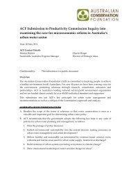 Australian Conservation Foundation - Productivity Commission