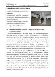 Ellipsometrie und Mikrogravimetrie - Institut für Physikalische ...