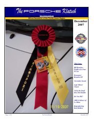 December 2007 - Florida Crown Region