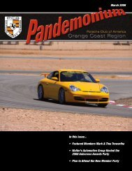 March 2009 In this issue... • Featured Members Mark - PCA - Orange ...