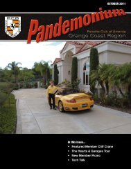 OCTOBER 2011 In this issue... Featured Member Cliff Crane The ...