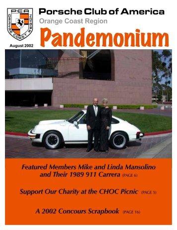 Porsche Club of America - PCA - Orange Coast Region