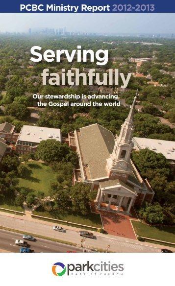 Serving faithfully - Park Cities Baptist Church