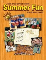 2012 SUMMER CAMPS - Park Cities Baptist Church