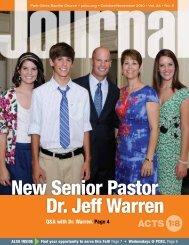 New Senior Pastor Dr. Jeff Warren - Park Cities Baptist Church