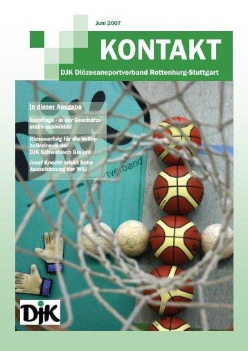 In dieser Ausgabe - DJK-Diözesanverband Rottenburg-Stuttgart
