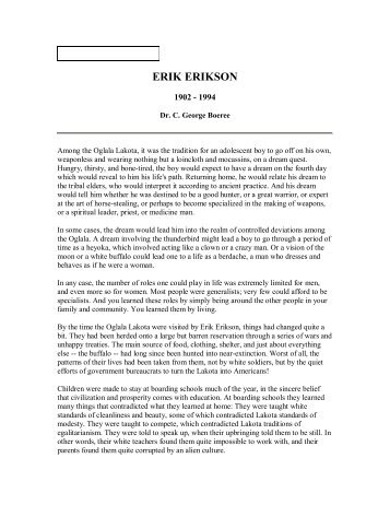 erik erikson research paper Erik erikson essay erik erikson compare and contrast erik erikson & sigmund freud this research paper will compare and sigmund freud and erik erikson the.
