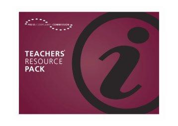 PCC Teachers Resource Pack 100908 - Press Complaints ...