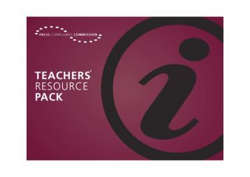 PCC Teachers Resource Pack 100908 - Press Complaints ...