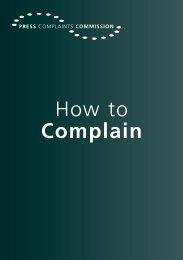 here - Press Complaints Commission