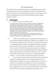 PCC Governance Review - Press Complaints Commission