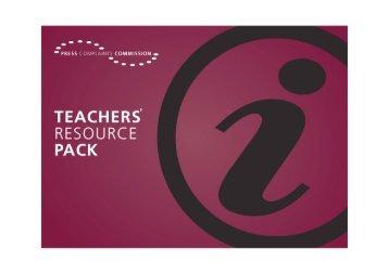 PCC Teachers Resource Pack - Press Complaints Commission