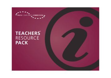 PCC Teachers Resource Pack - Press Complaints Commission