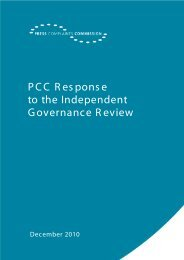 PCC response to the Governance Review. - Press Complaints ...