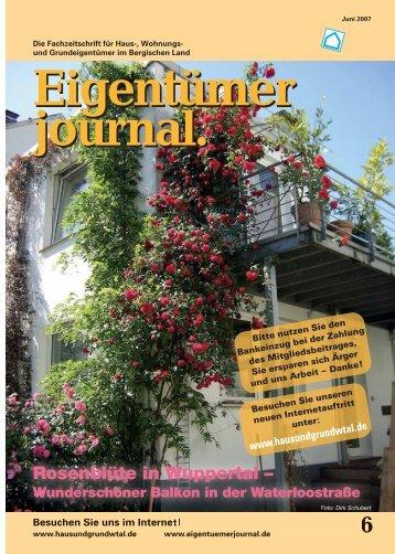 Rosenblüte in Wuppertal – - Eigentümerjournal