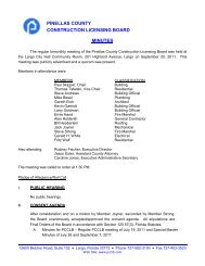 September 20, 2011 Meeting Minutes - Pinellas County ...