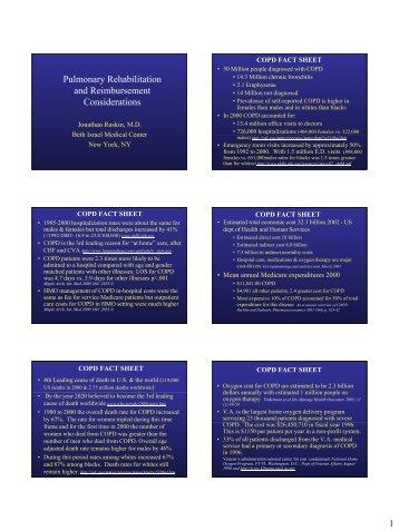 Pulmonary Rehabilitation and Reimbursement Considerations