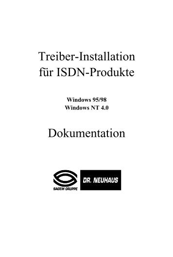 Treiber-Installation für ISDN-Produkte ... - Fax-Anleitung.de