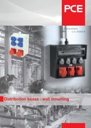 Solid rubber distribution boxes - wall mounting - pc electric