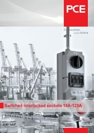 Switched interlocked sockets 16A-125A - pc electric