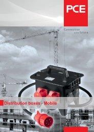 Distribution boxes - Mobile - pc electric