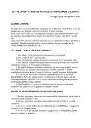 LETTRE OUVERTE A MADAME NATHALIE LE YONDRE, MAIRE D ...