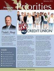 Summer 2013 Newsletter - Peninsula Credit Union