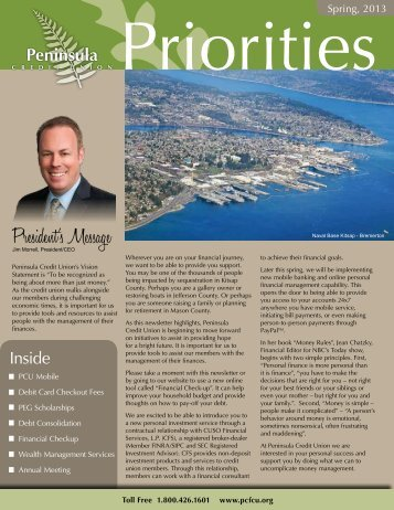 President's Message - Peninsula Credit Union