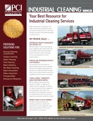 Industrial Cleaning.pdf - Performance Contracting Inc.