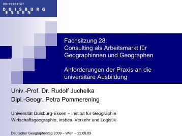 Anforderungen der Praxis an die universitäre Ausbildung - PCG ...