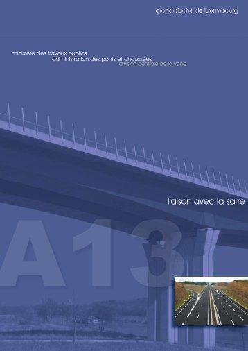 liaison avec la sarre - Administration des Ponts et Chaussées