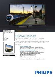 46PFL4308H/12 Philips Izjemno tanek LED-televizor 3D s Pixel Plus ...