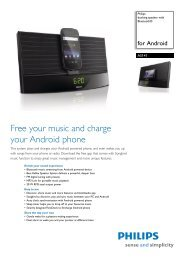 AS141/05 Philips docking speaker with Bluetooth® - EnaA