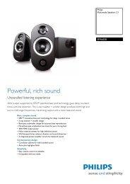 SPA6350/10 Philips Multimedia Speakers 2.1