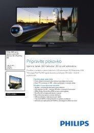 40PFL4308H/12 Philips Izjemno tanek LED-televizor 3D s Pixel Plus ...