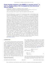 J.Chem.Phys. 133 (2010) - Physikalische und Theoretische Chemie