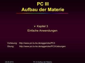 PC III Aufbau der Materie