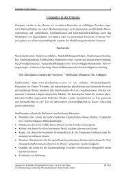 Computer in der Chemie - Institut für Physikalische und ...