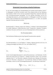 Kinetische Untersuchung schneller Reaktionen - Physikalische und ...