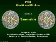 PC II Kinetik und Struktur