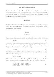 Der Joule-Thomson-Effekt - Physikalische und Theoretische Chemie