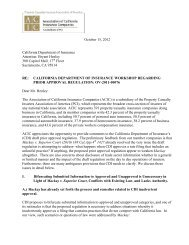 ACIC Comments - Property Casualty Insurers Association of America