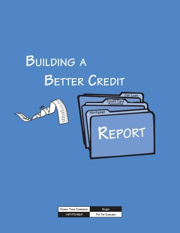 Building a Better Credit Report