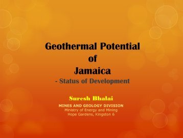 Geothermal Potential of Jamaica