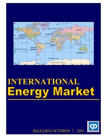 International Energy Market - October 2003 - Petroleum Corporation ...