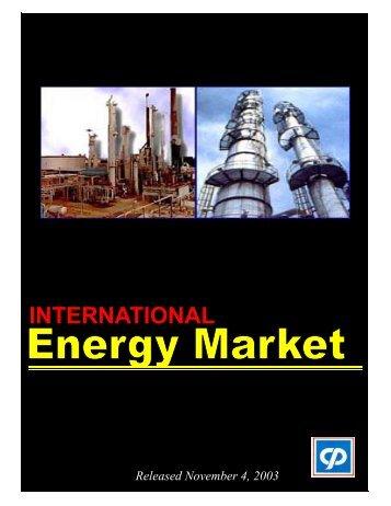 International Energy Market - Petroleum Corporation Of Jamaica